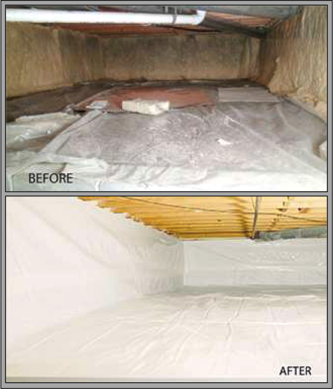 Crawl Space Vapor Barriers - Macomb, St. Clair, Oakland County, MI