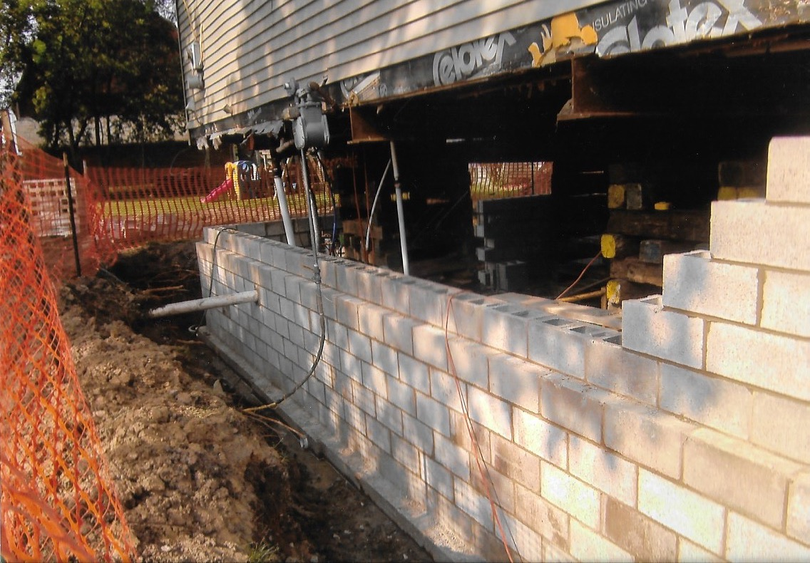 house lifting for new basement install macomb county mi 4