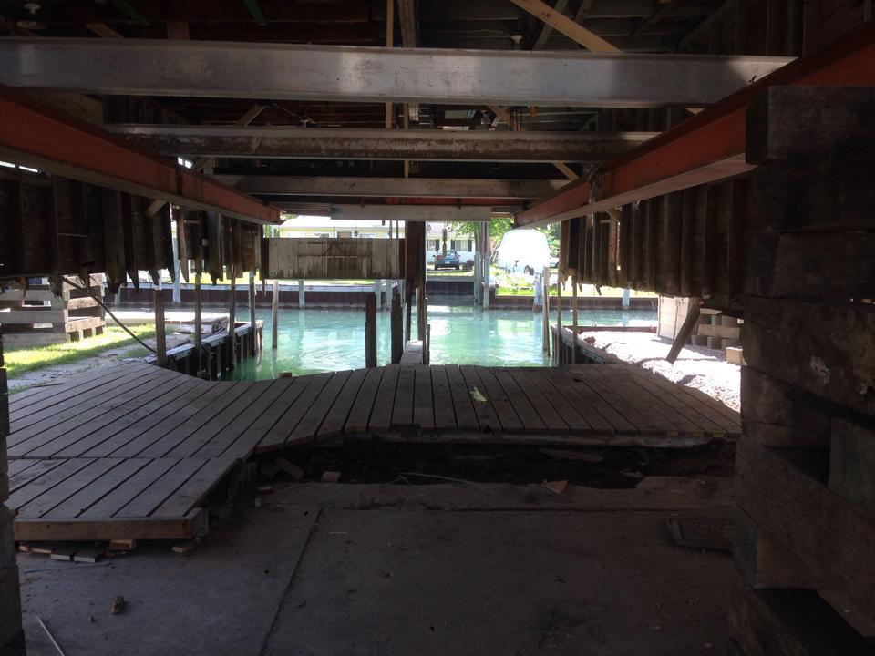boat house raising straightening new foundation clay township mi