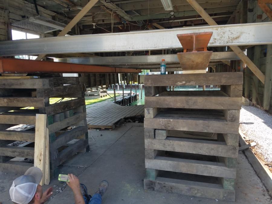 Boat House Raising Straightening Amp New Foundation Clay